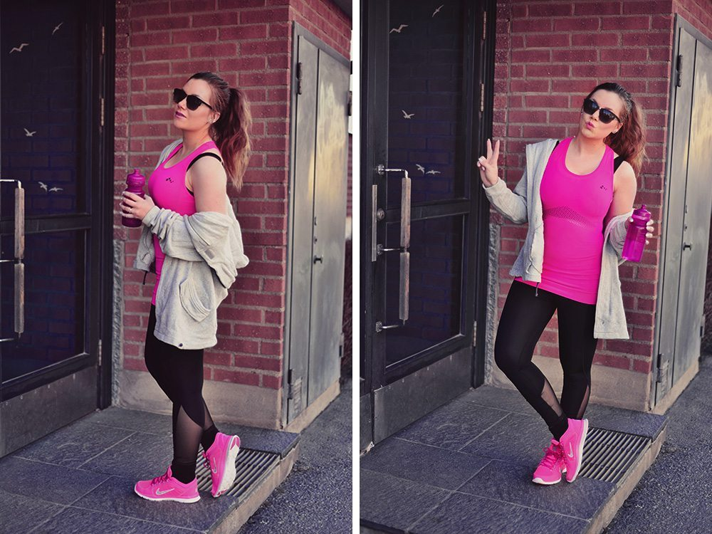 Rosa gymoutfit