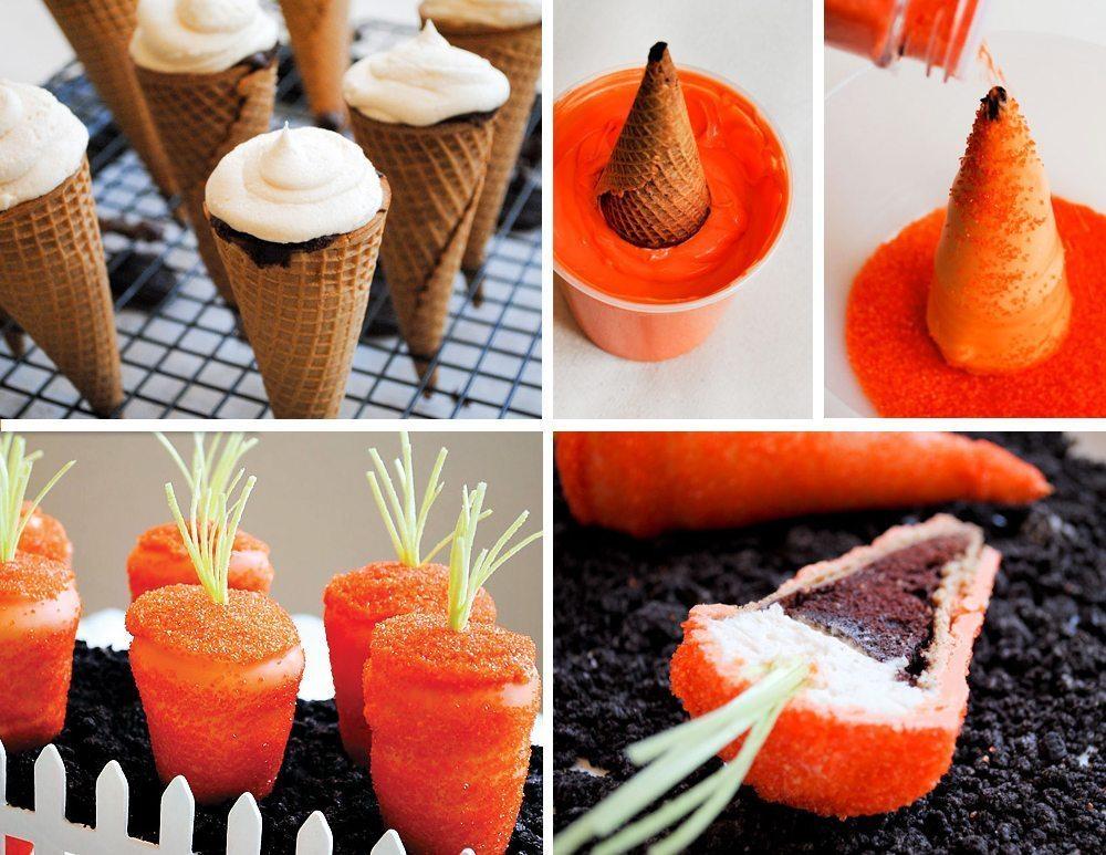 diy sparkling surprise carrot cupcakes