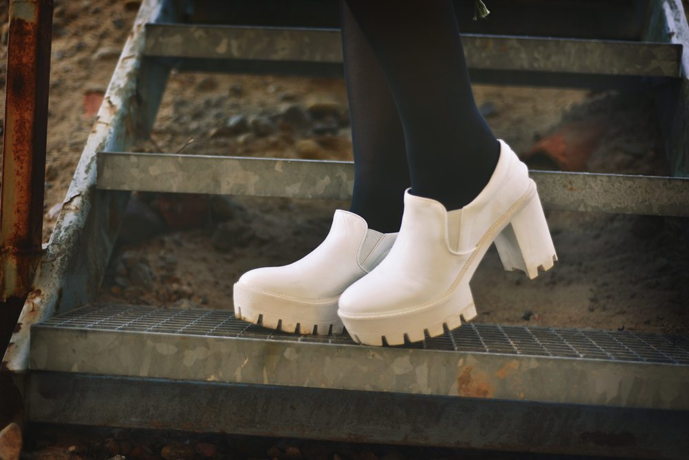 White tractor soles
