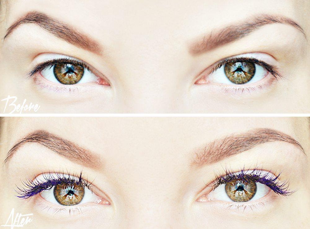 Lila ögonfransförlängning