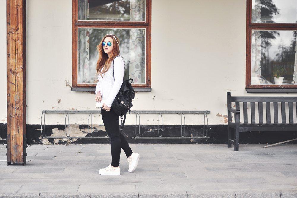 Lace Platform Sneakers