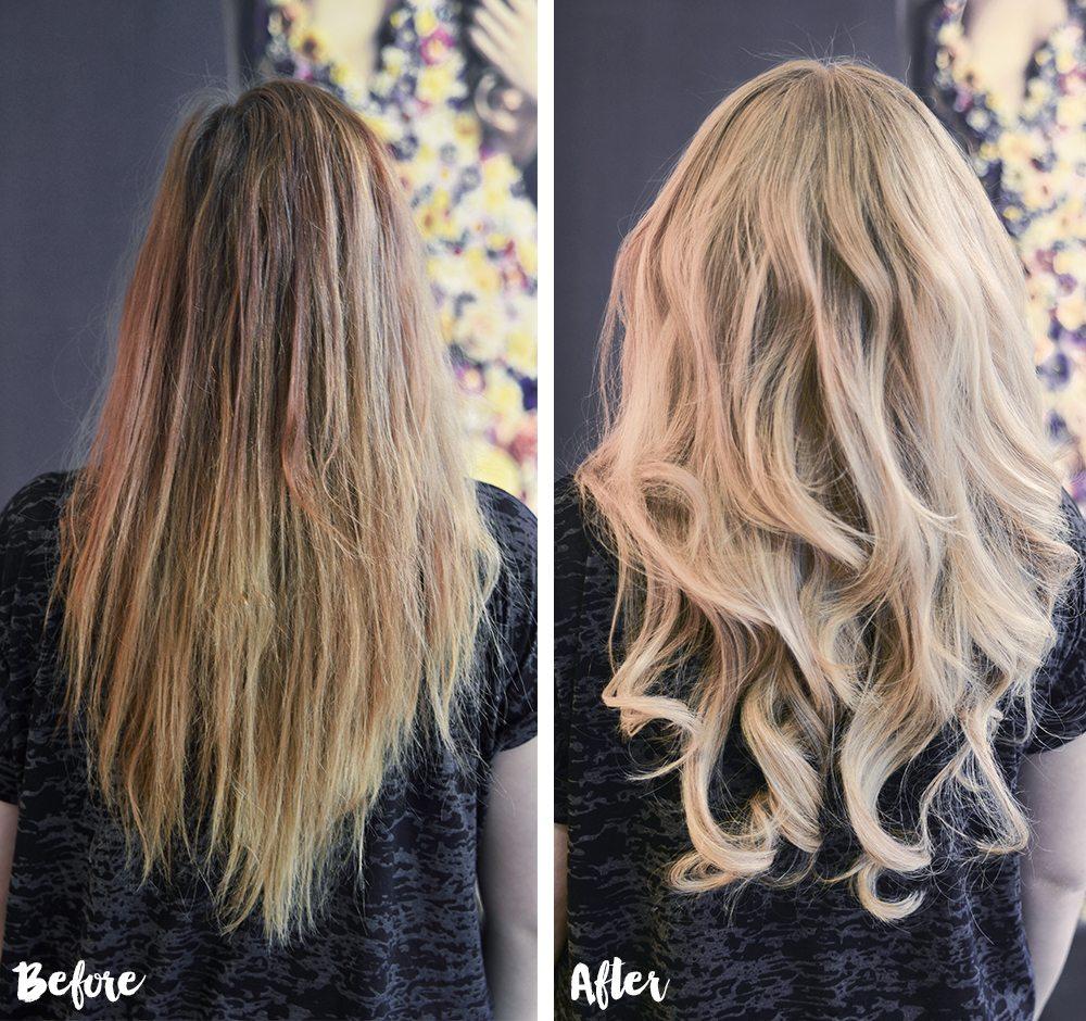 Före och efter hos Poze Hair