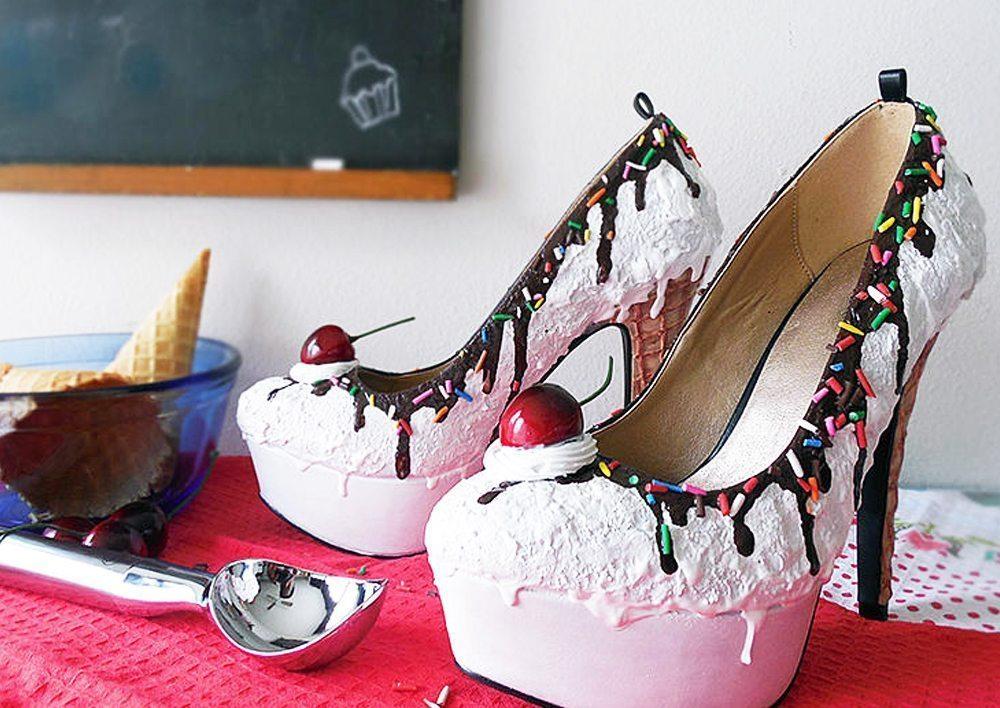 Vanilla Ice Cream Heels Valentines Day Flats (Picture: Shoe Bakery)
