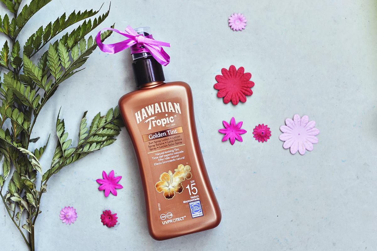 Hawaiian Tropic Golden Tint Sun Spray Lotion