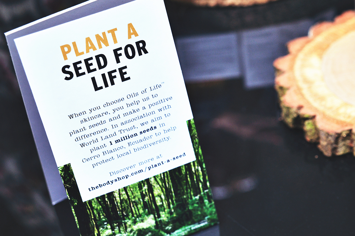 The Body Shop Plant a seed for life