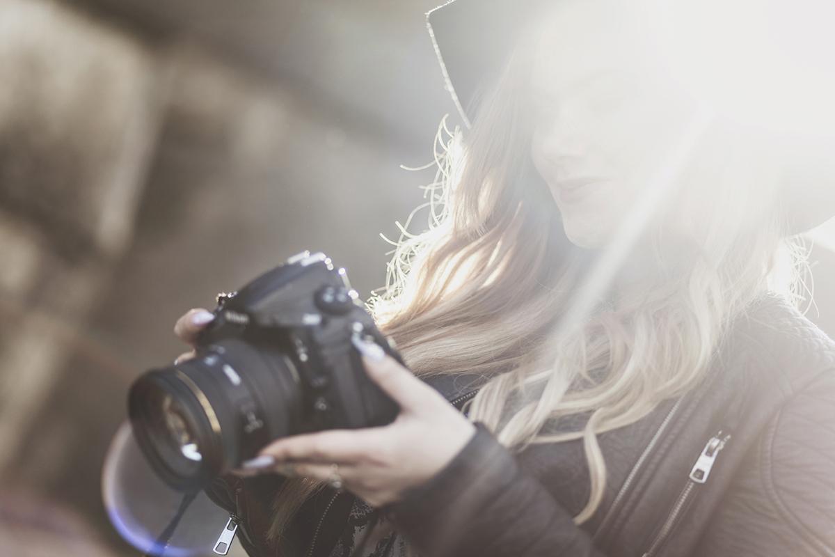 Photoshoot med Helena Gunnare vid Stockholms stadshus