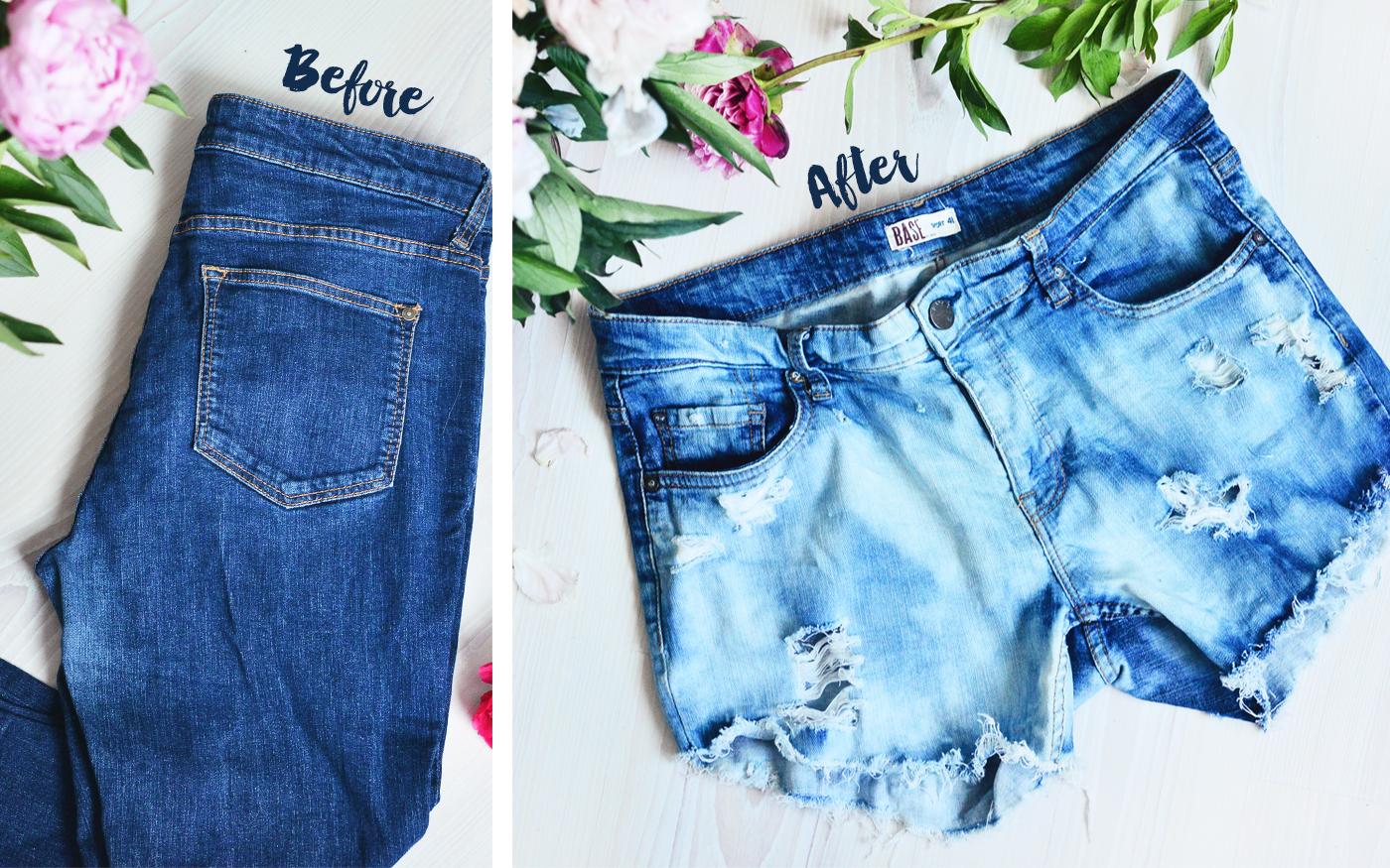 DIY: Slitna jeansshorts av jeans