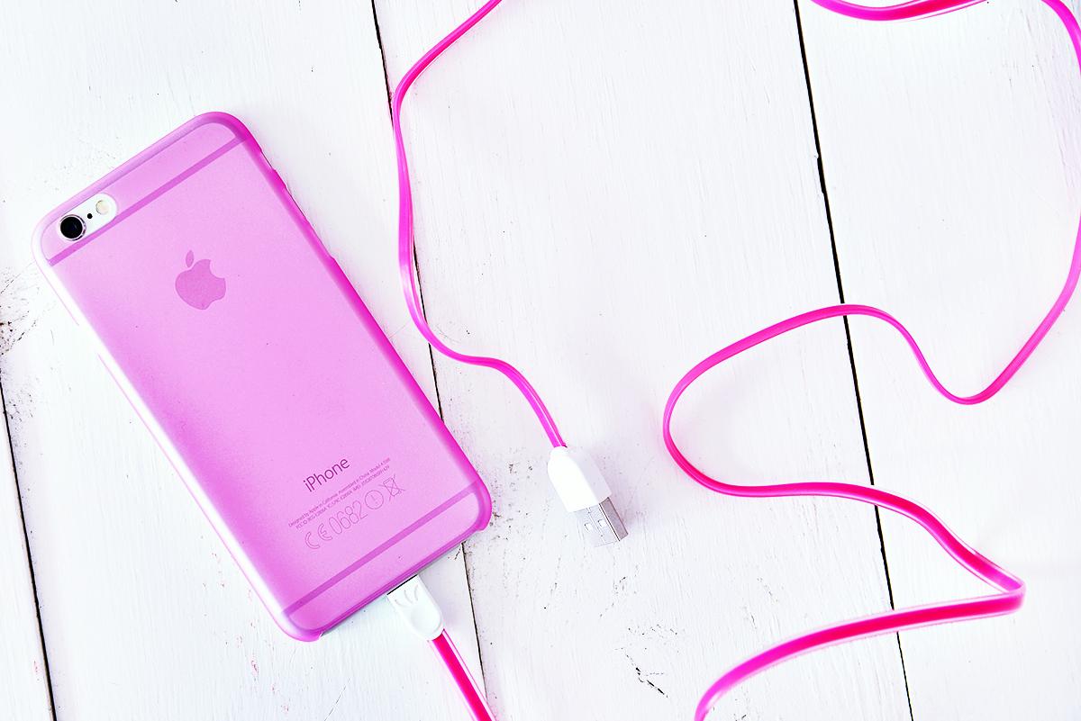 Transparent rosa iPhoneskal