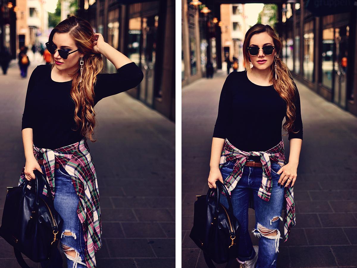 Street Style: Shredded Boyfriend Jeans