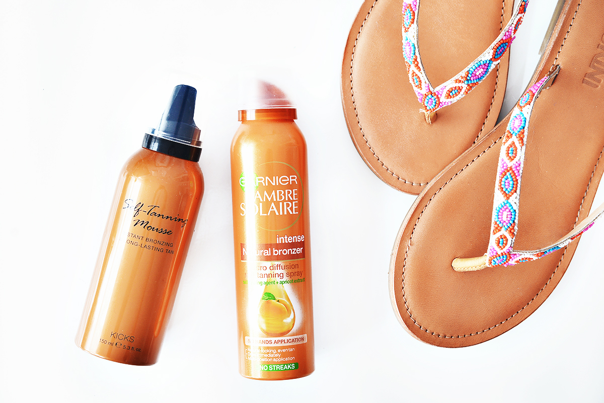 Kicks Self-Tanning Mousse +Garnier Intense Natural Bronzer
