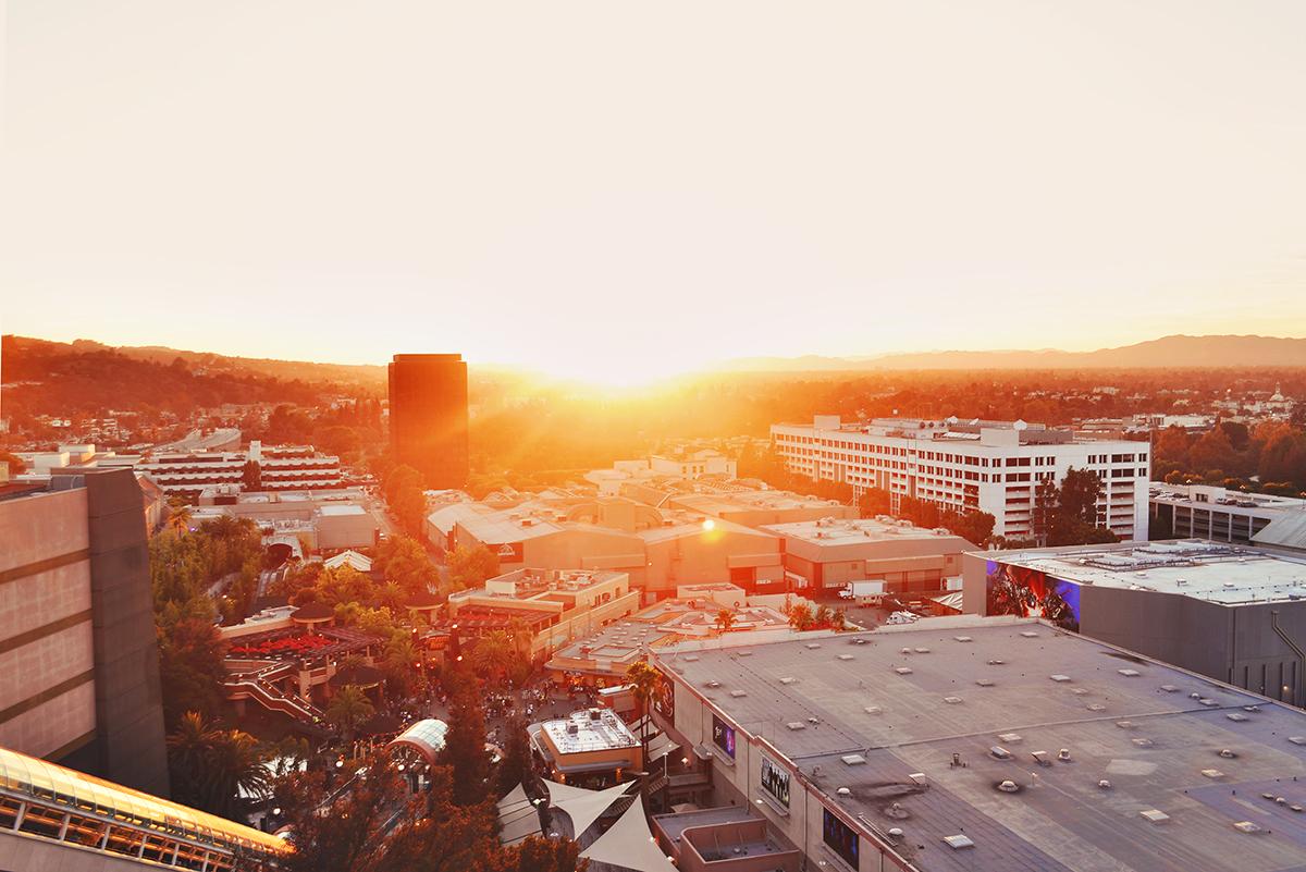 Solnedgång i Hollywood