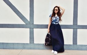 Outfit: Maxi Skirt & Nike Air Force