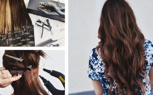 Steg för steg: Hårförlängning med nail hair extensions - hemma!