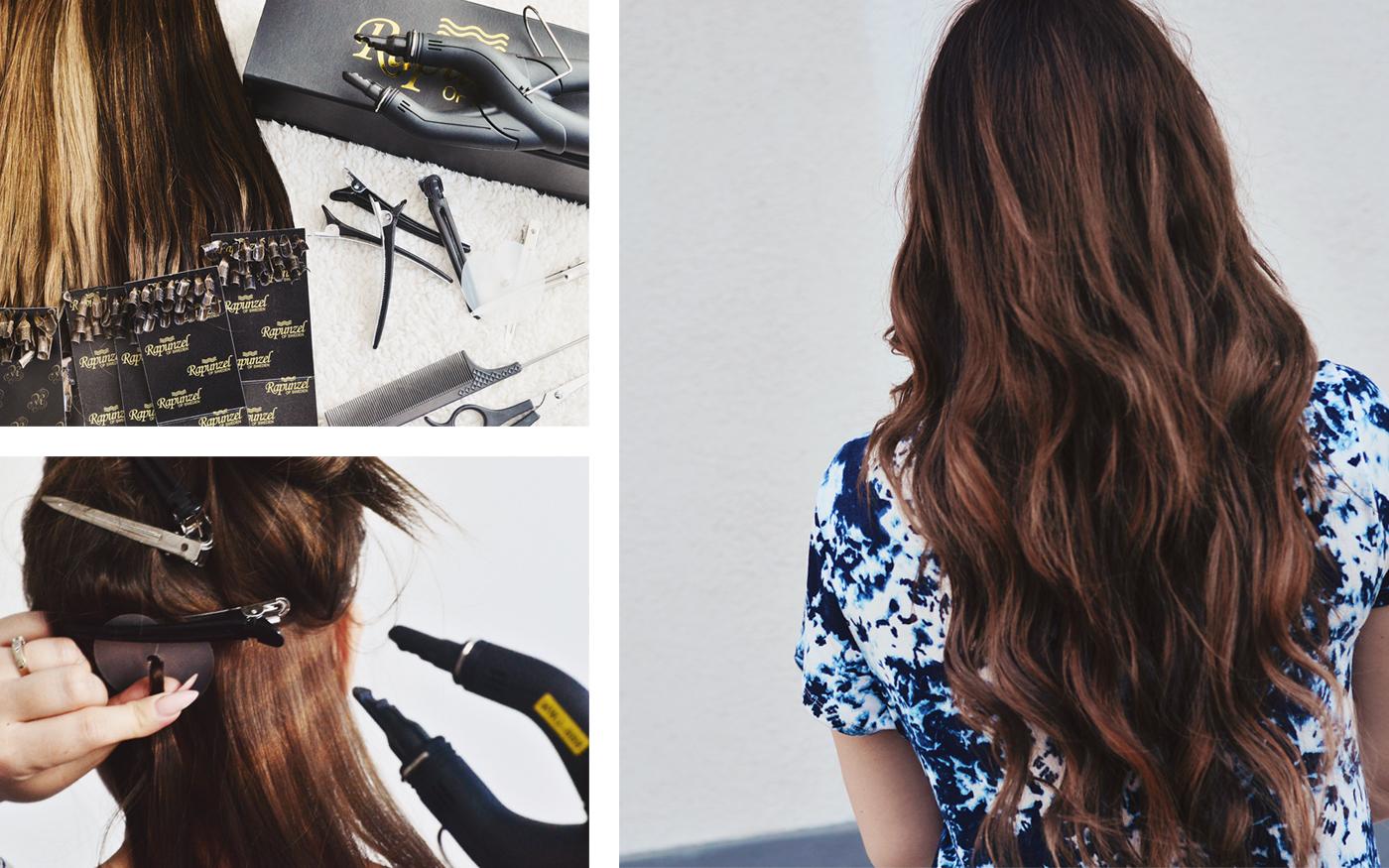 sätta i hårförlängning själv