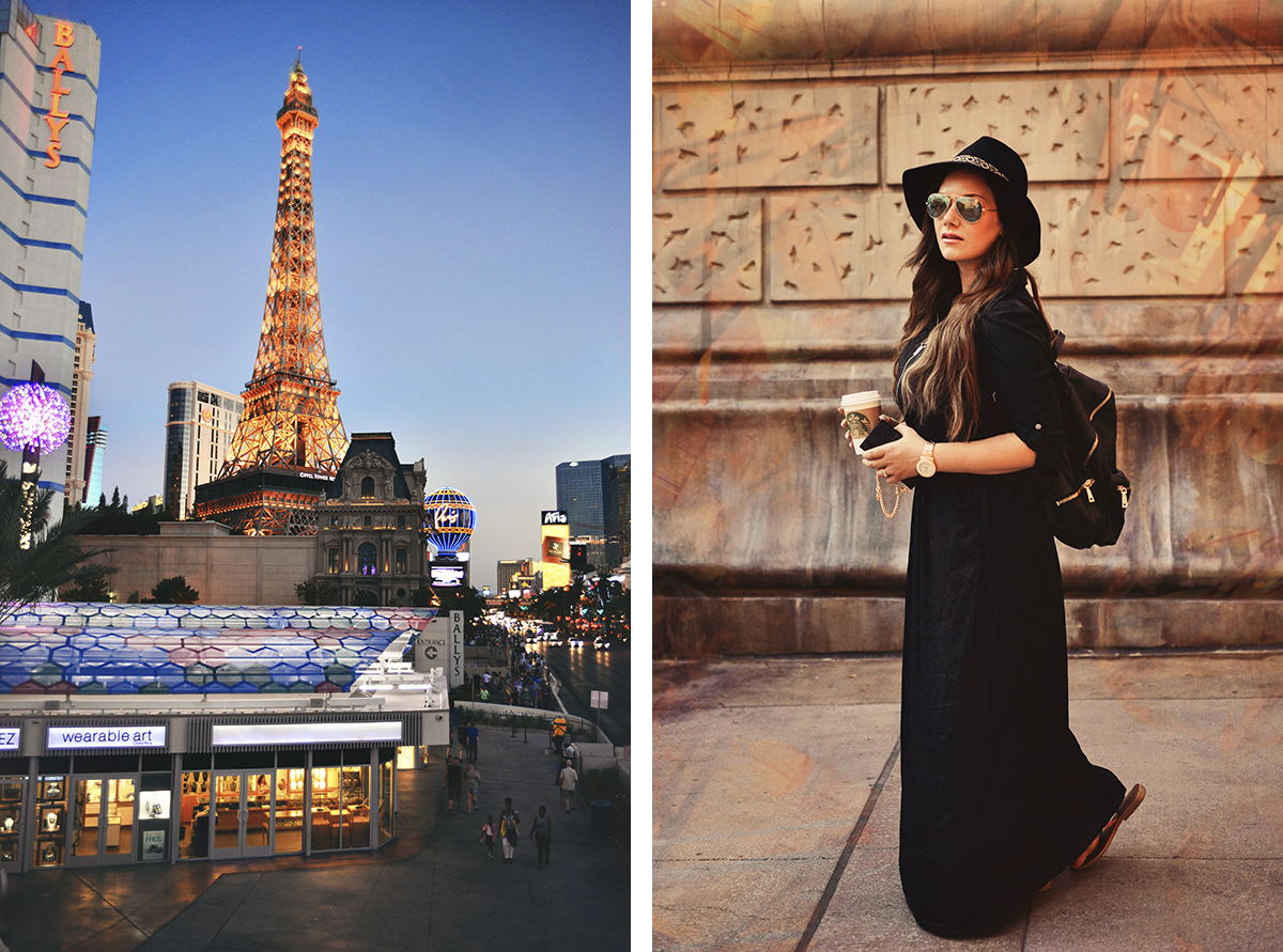 All black outfit @ Paris Las Vegas Hotel