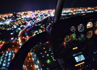 View from Helicopter Night Tour over Las Vegas