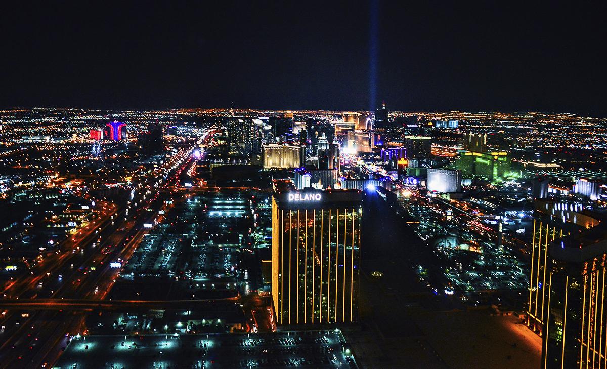 Helikopter över Las Vegas