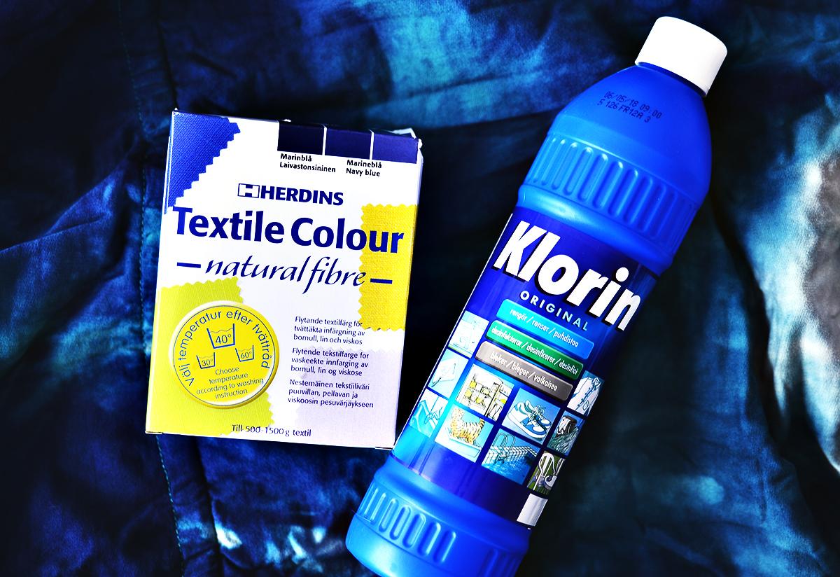 Mörkblå textilfärg från Herdins