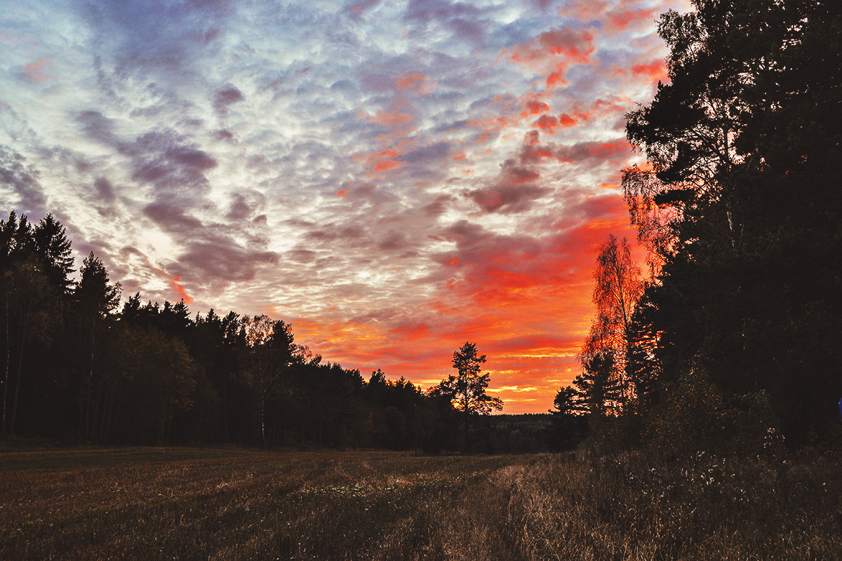 Burning sunset - Tungelsta, Sweden