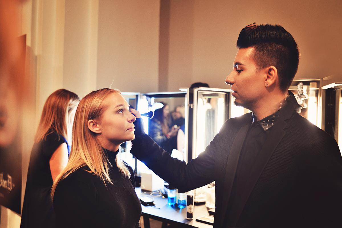 Kat Von D's makeup artist