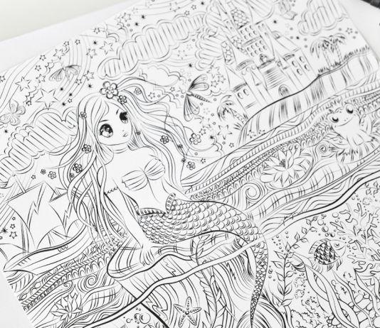 Mermaid Illustration - Color Book