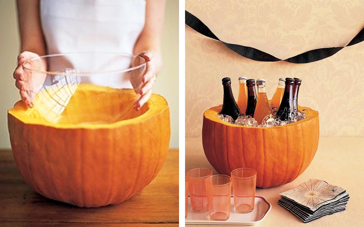 Pumpkin Party Cooler - Halloween hacks