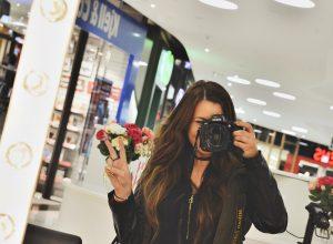 Sminkspegel-selfie