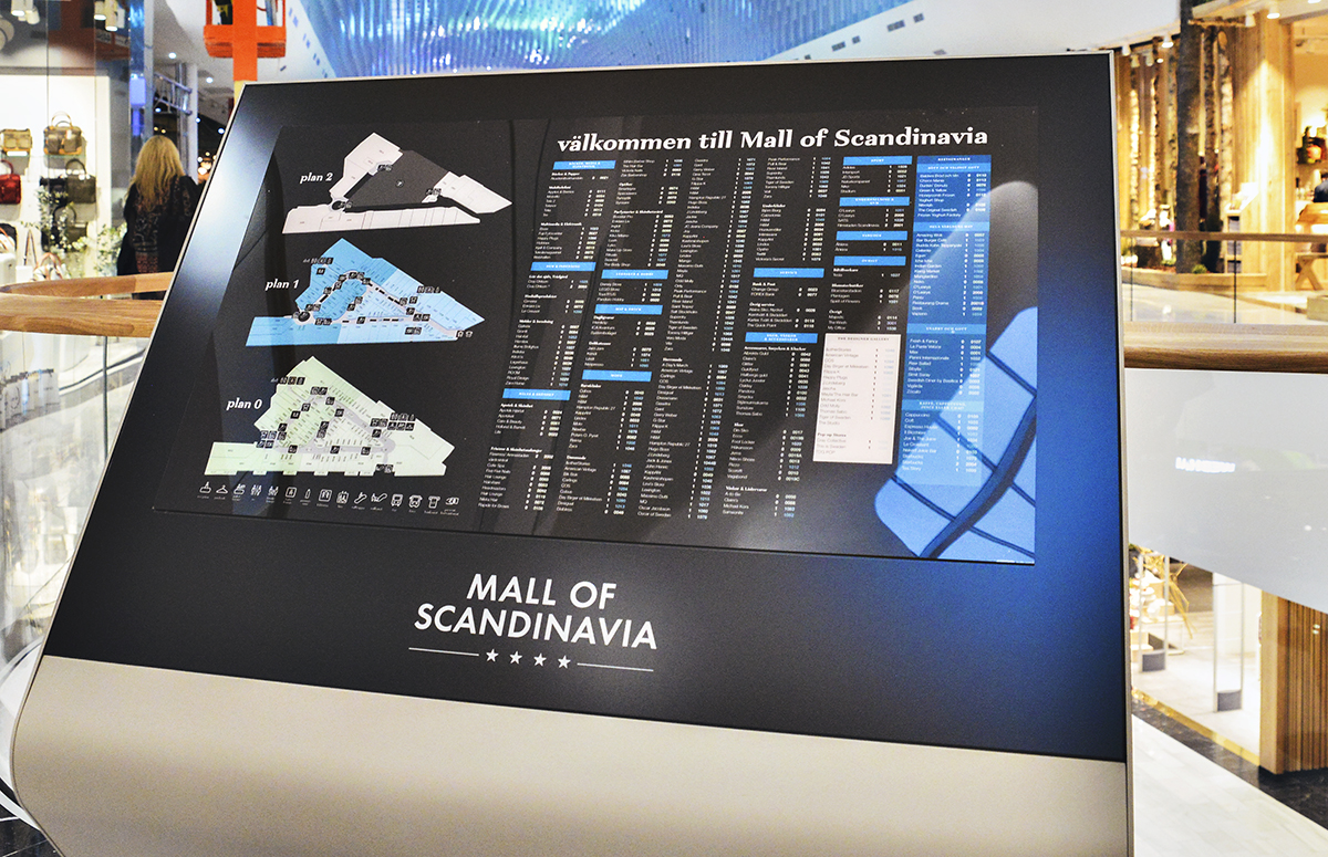 mall of scandinavia karta Mall of Scandinavia: Framtidens shoppingupplevelse mall of scandinavia karta
