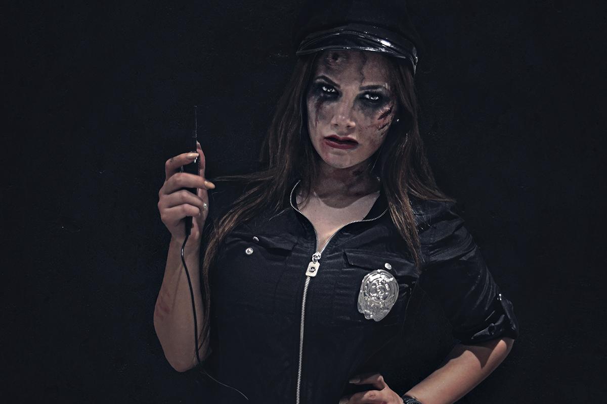 Zombie Cop Halloween Makeup
