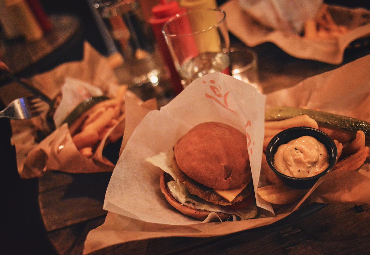 Green burger på Bar and Burger