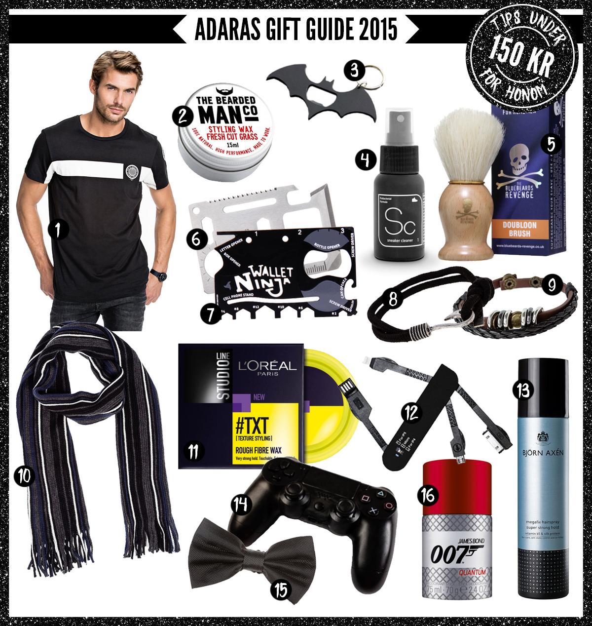 Adaras Holiday Gift Guide 2015 - För honom - under 150 kronor