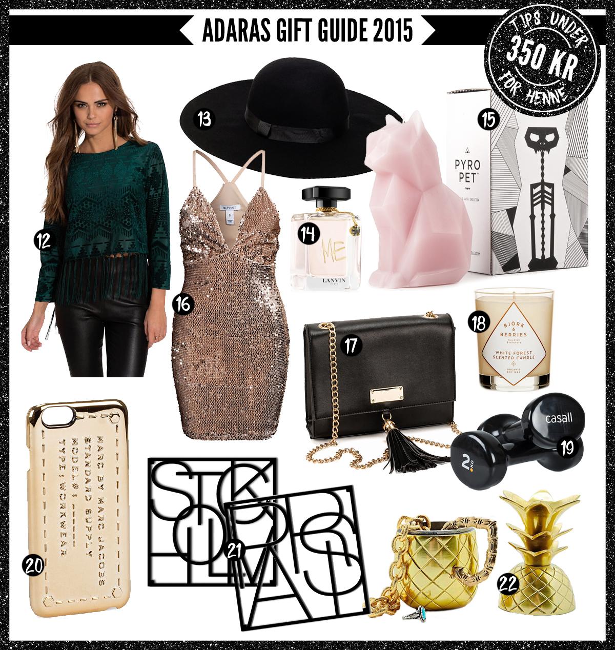 Adaras Gift Guide 2015 -Julklappstips till henne - under 350 kronor