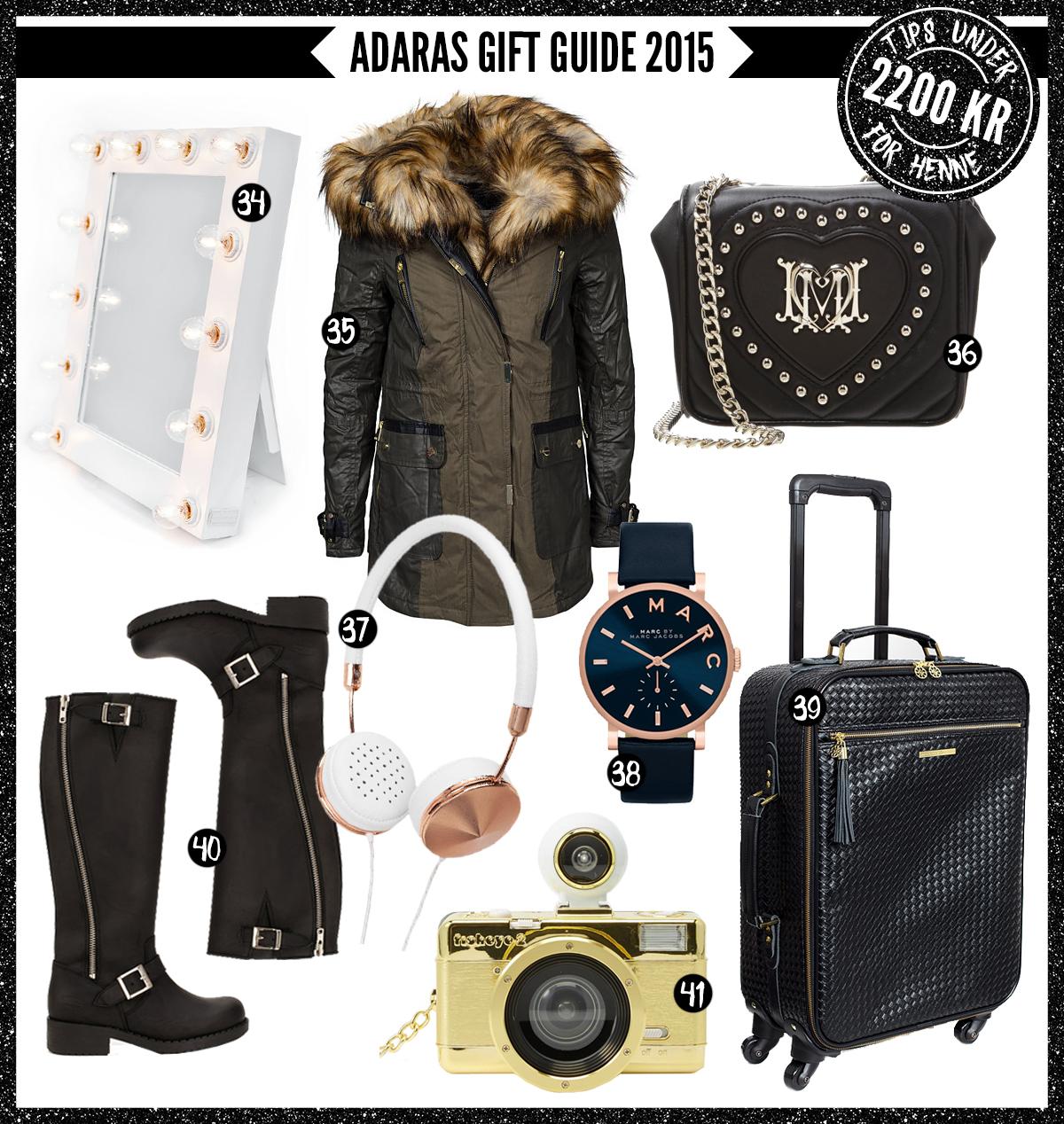 Adaras Gift Guide 2015 -Julklappstips till henne - under 2200 kronor