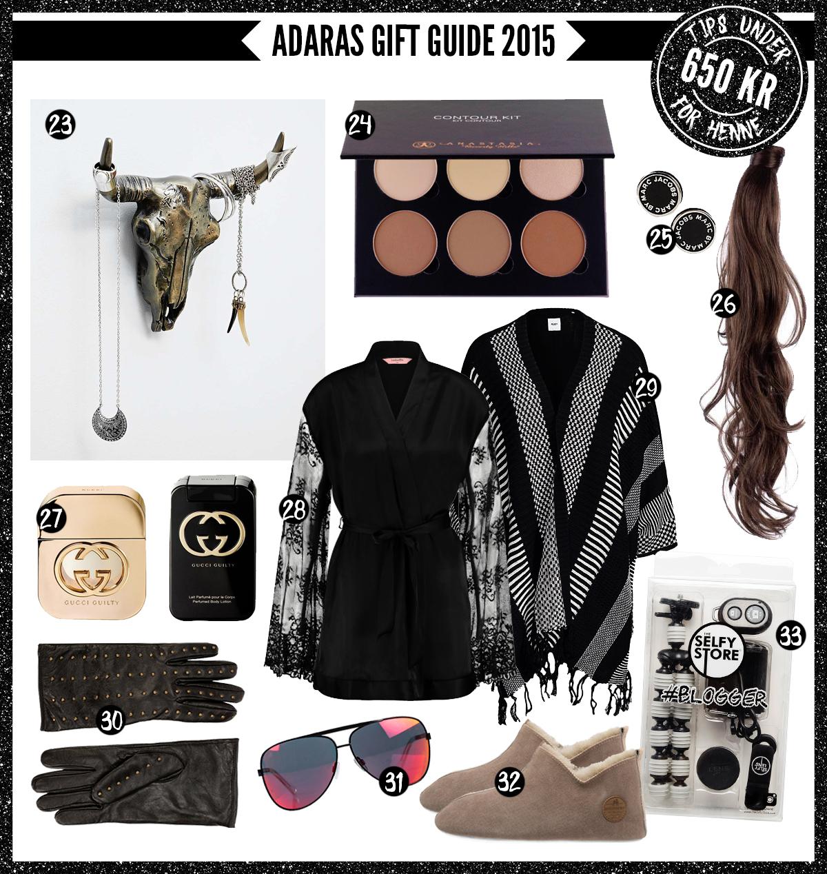 Adaras Gift Guide 2015 -Julklappstips till henne - under 650 kronor