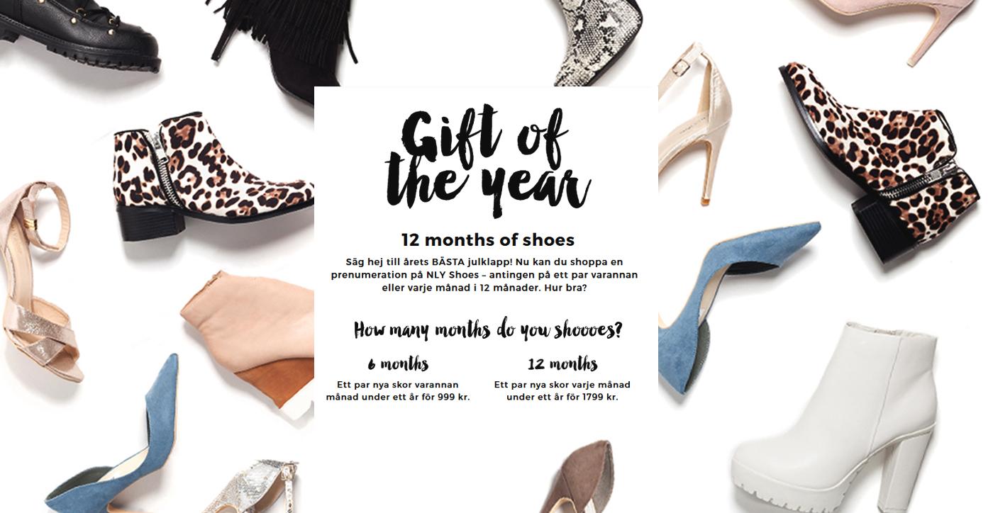 Nelly lanserar skoprenumeration – årets julklapp till skoälskare