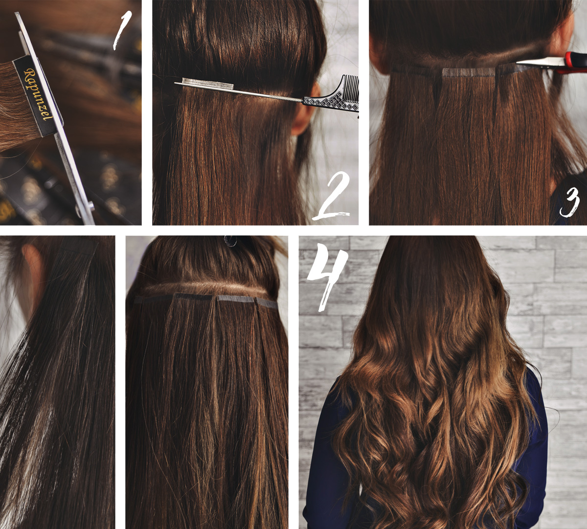 How to: Tape hair extensions
