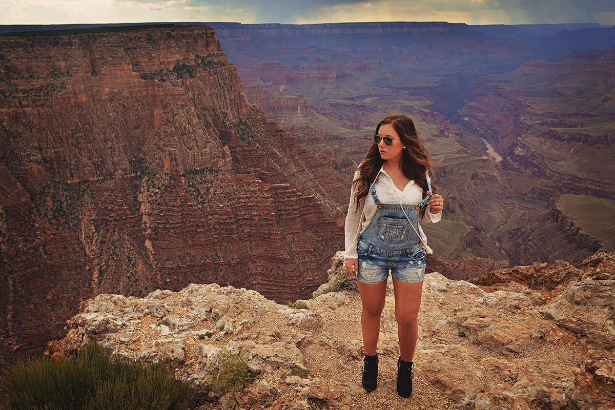 Grand Canyon outfit - Denim overalls