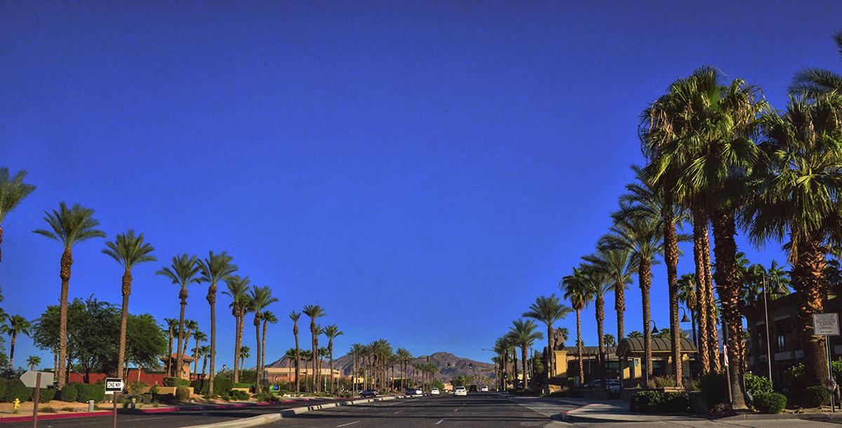 Road in California, Coachella Valley