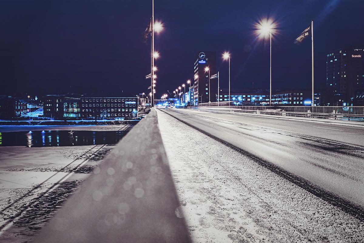 Umeå by night 2016 - Tegsbron
