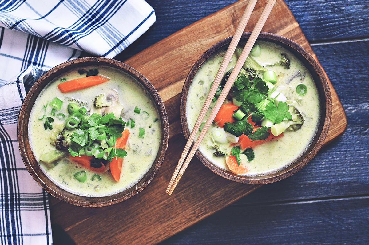 Tom kha phak -soppa