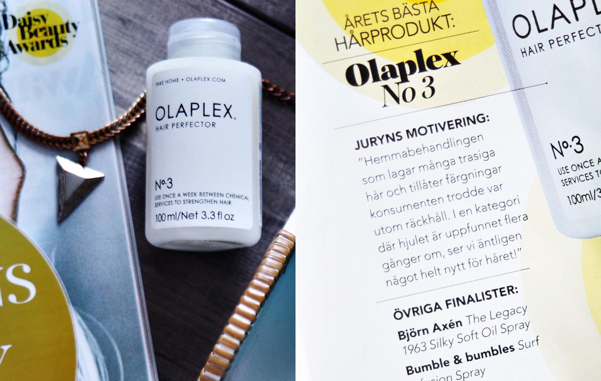 Olaplex No3 - Årets bästa hårprodukt i Daisy Beauty Awards 2016
