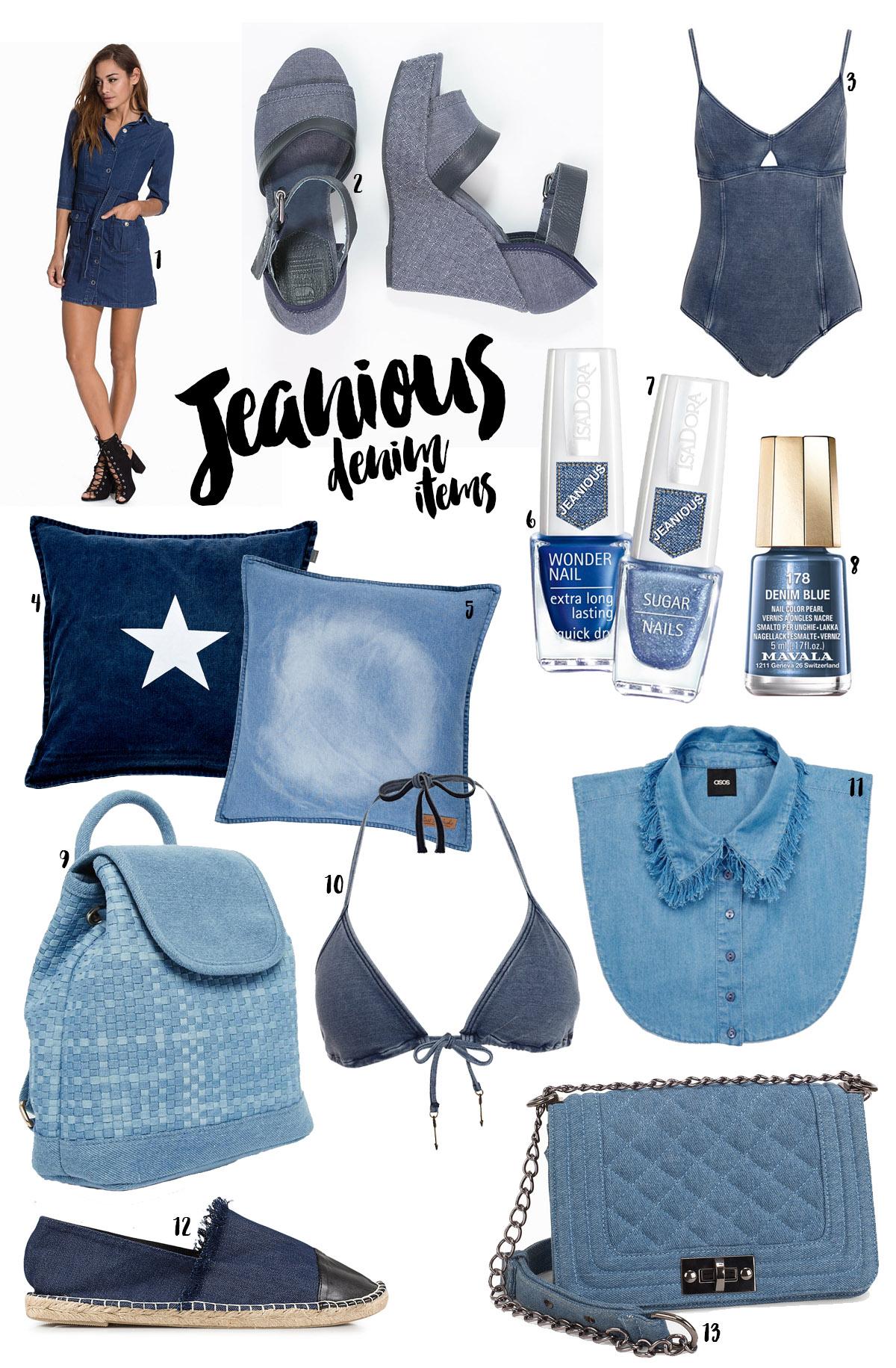 Blå denim: 13 Trendiga Jeanious-köp! / Jeanious Denim Items