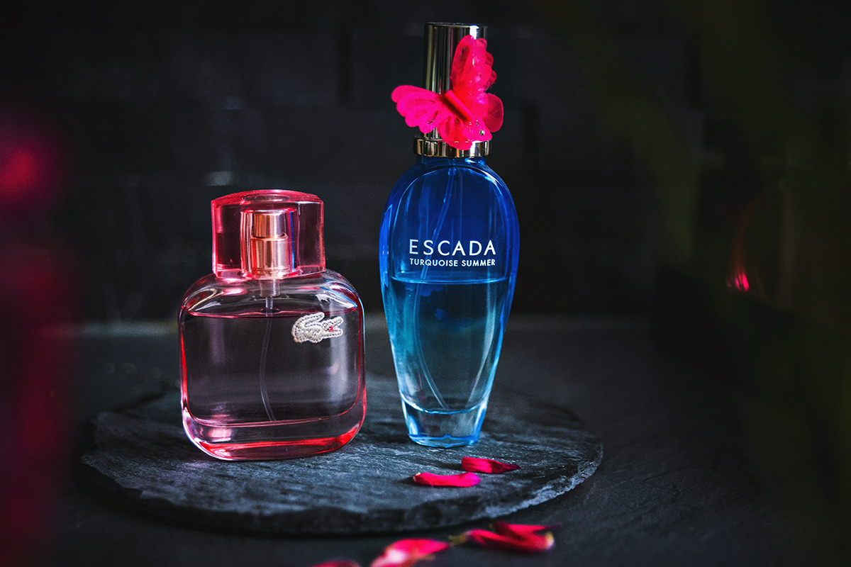 Lacoste L.12.12 Elle Sparkling & Escada Turquoise Summer EdT