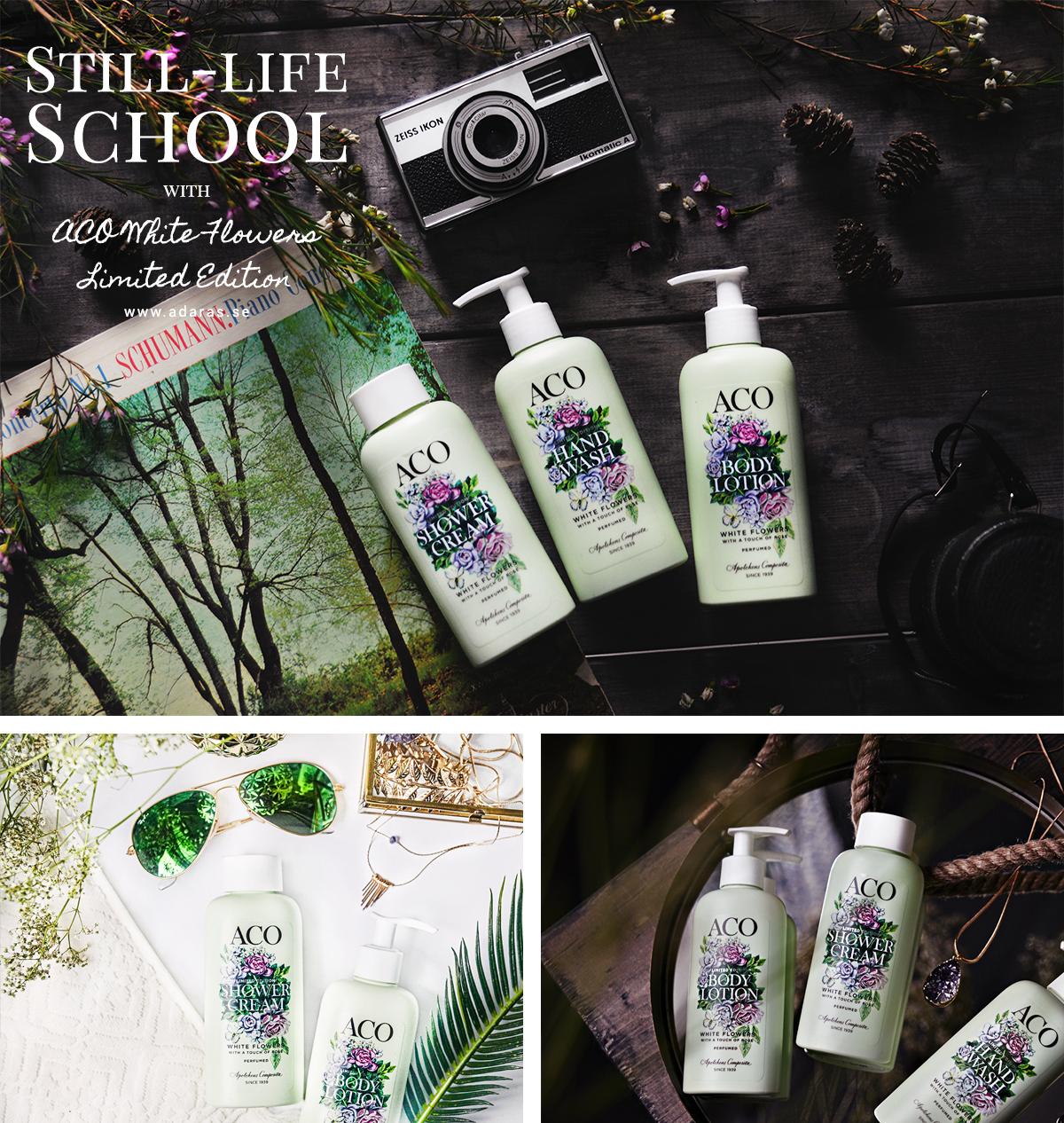 Still-life School / Stillebenskola med Aco White Flowers Limited Edition
