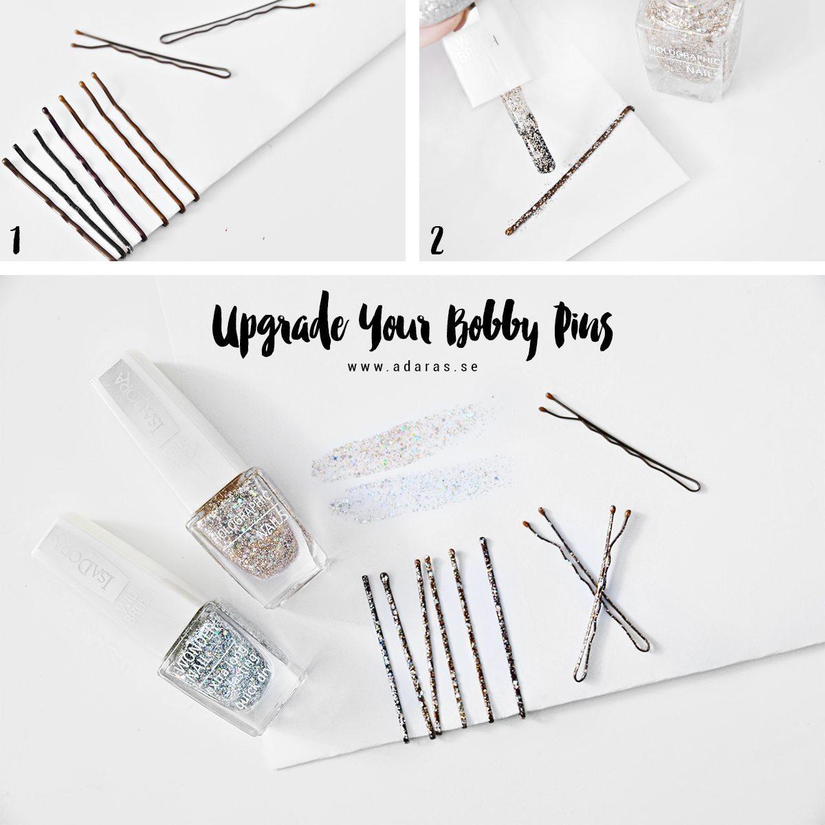DIY: Upgrade your bobby pins - with nail polish