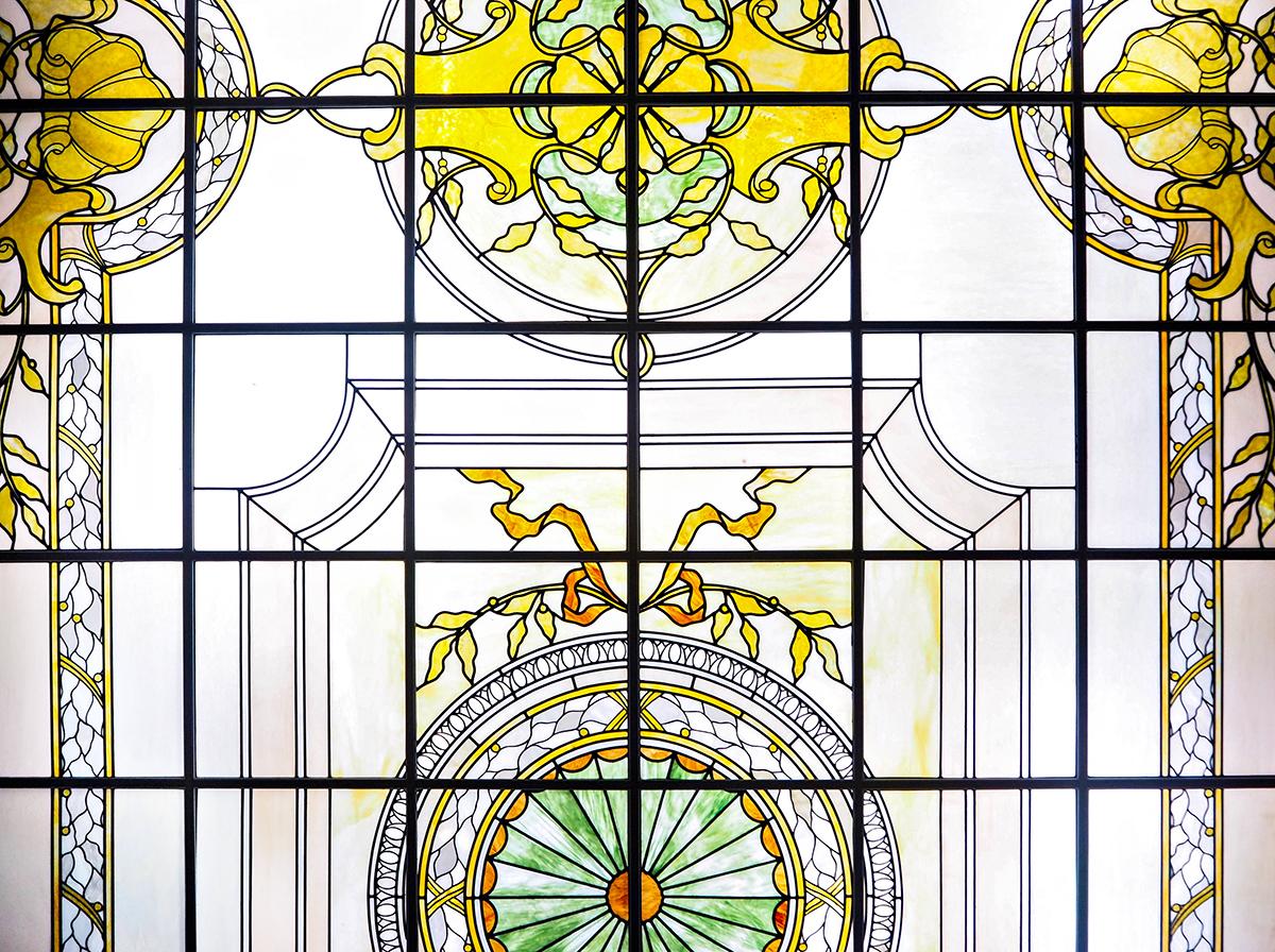 Taket i konferensrummet på Hotel Ambasciatori