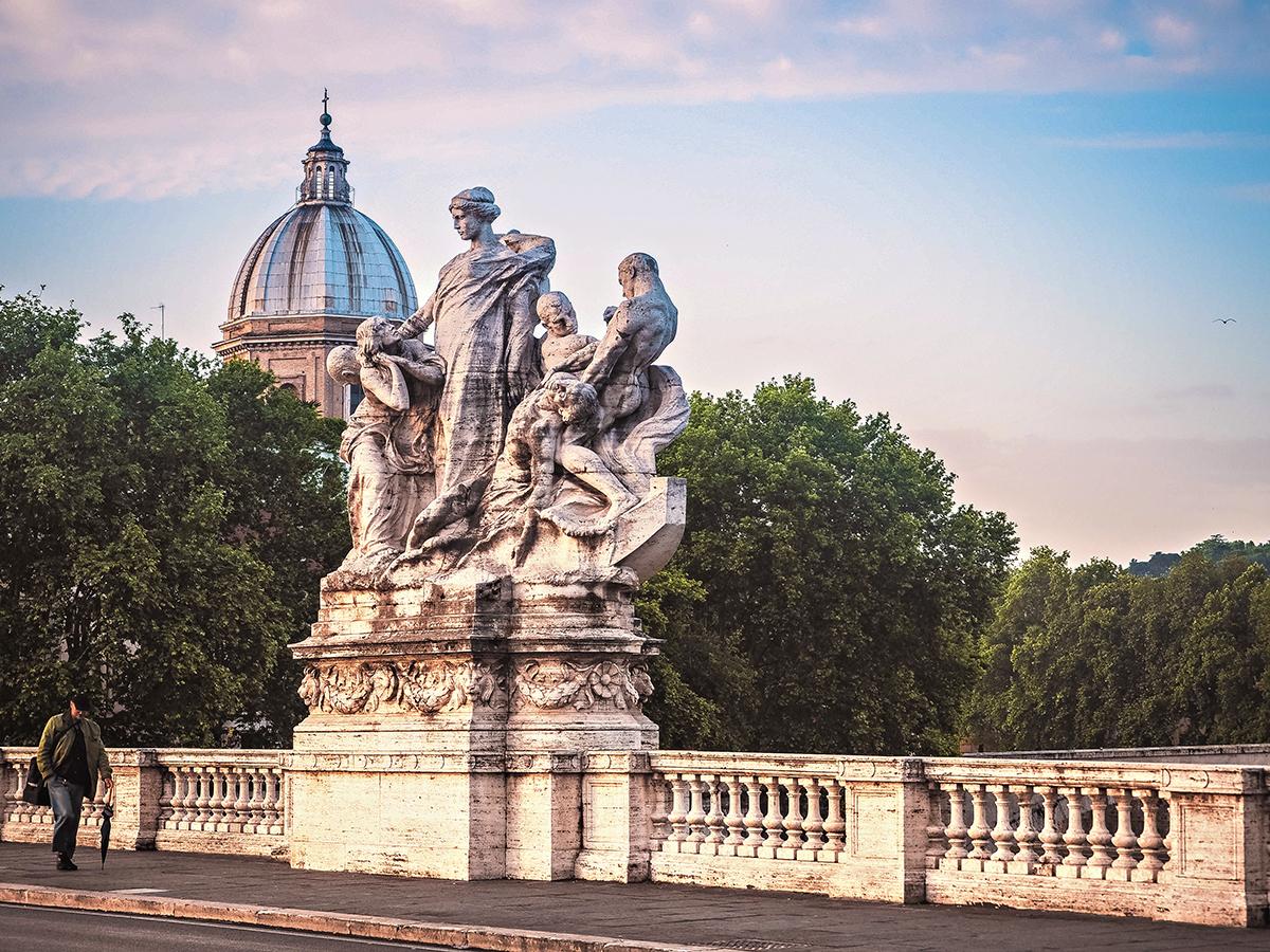 Ponte Vittorio Emanuele II - Sunset in the Vatican City