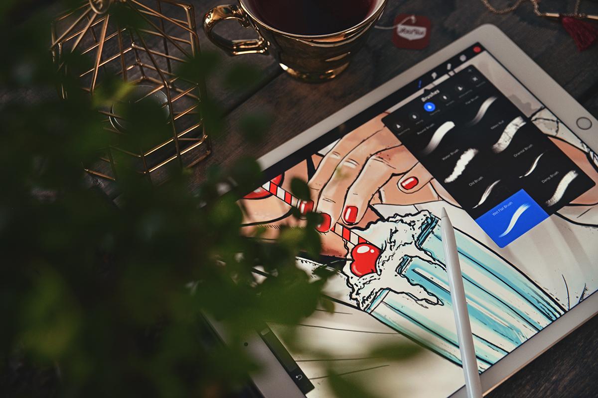 Comic Book Drawing on iPad Pro