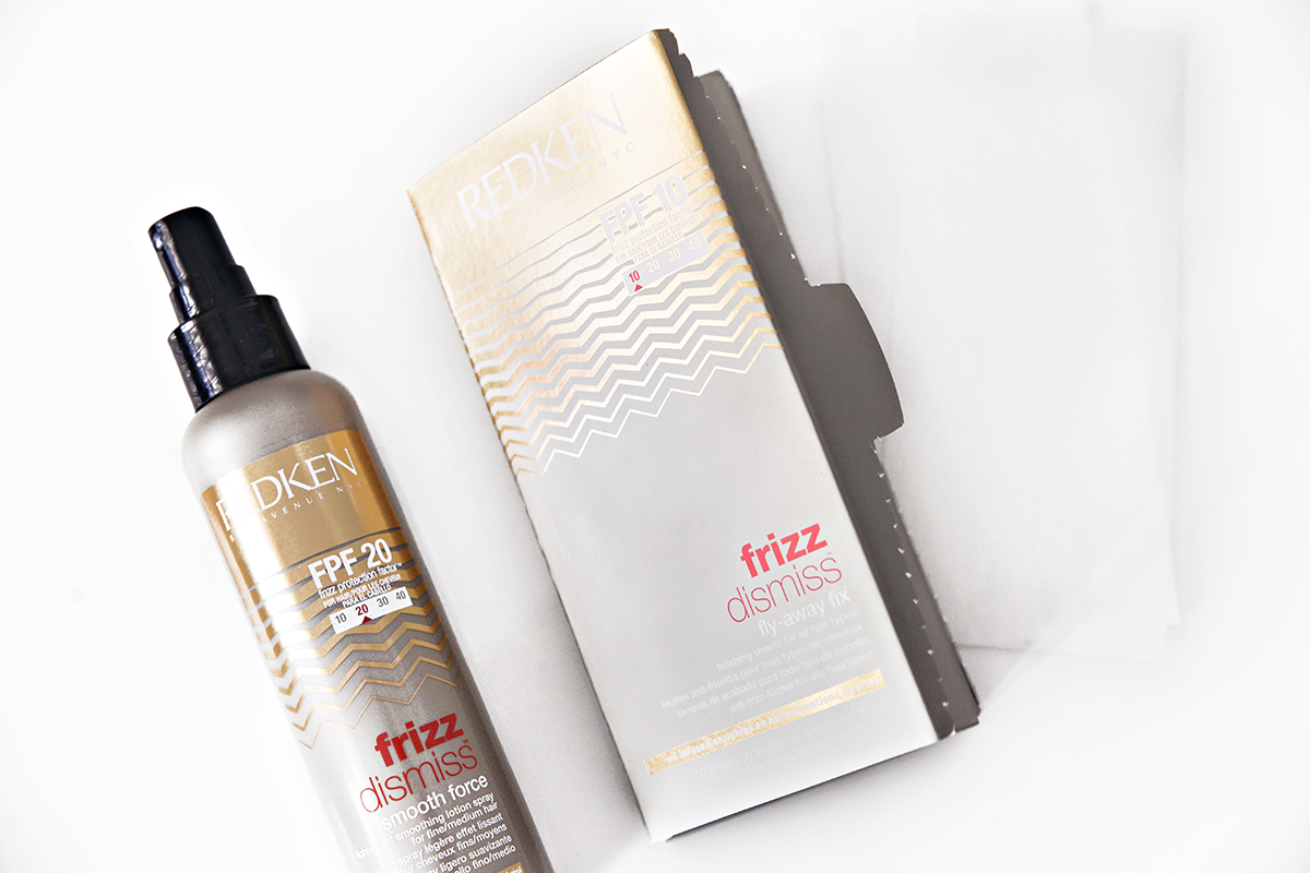 Frizz Dismiss Smooth Force Lightweight Smooting Lotion Spray & Fly-Away Fix Finishing Sheets