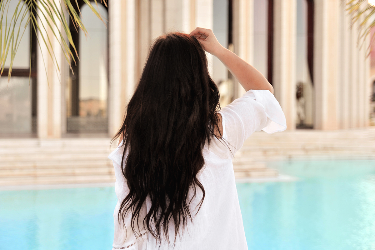 By the pool at Melia Villaitana
